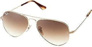 Ray-Ban Men's Sunglasses Classic, Gold/Brown