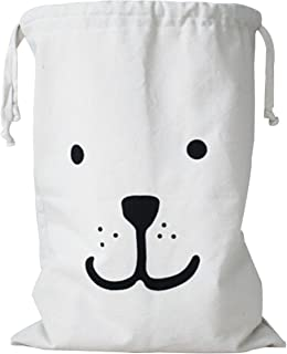 Simpleulife Kids Toy Canvas Duffle Storage Carry Heavy Duty Basket Laundry Bag Reusable Wall Delicates with Drawstring Pouch Christmas Gift for Travel, Ladies Sweater