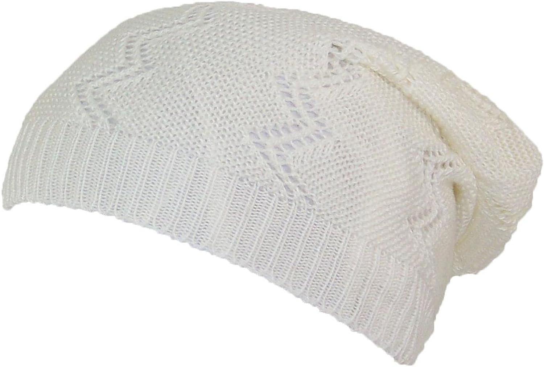 D&Y Women's Loose Knit Lightweight greenical Zig Zag Pattern Skull Cap (One Size)