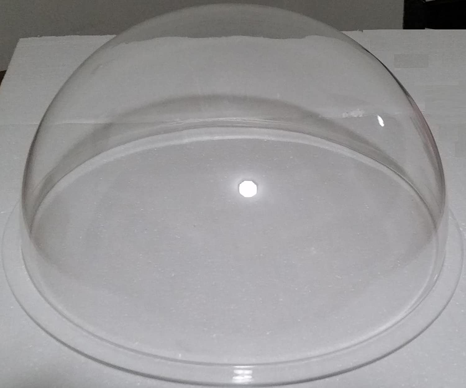Acrylic Dome Plastic Hemisphere  Clear  15  Diameter, 3 4  Flange with No PreDrilled Holes