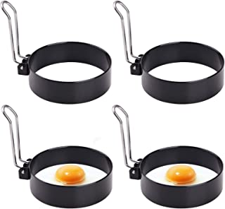 Egg Ring, Round Professional Pancake Mold, Egg Cooker Rings For Cooking, Stainless Steel Non Stick Round Egg Ring Mold For Fried Egg, Pancakes, Sandwiches 4PCS (4 PCS)