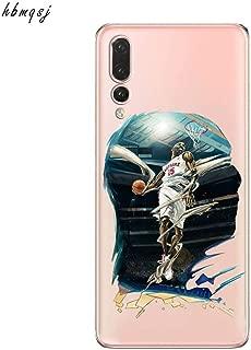1 piece Cool nba player Kobe Jordan James for huawei p20 lite pro p10 plus p9 p8 lite 2017 case silicone soft cartoon phone back cover