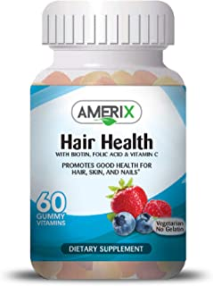 AMERIX Adult Hair Health Vitamin Gummies, 60 Count