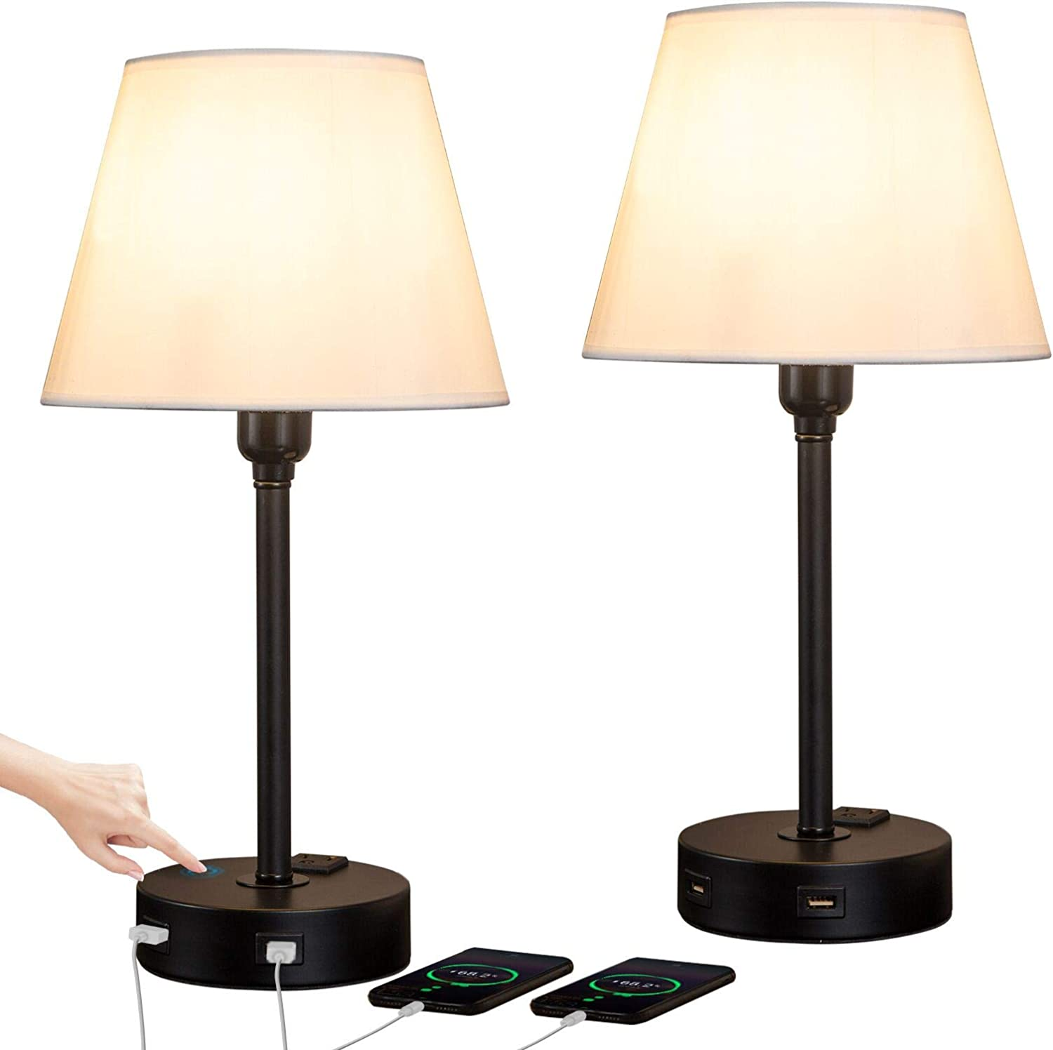 ZEEFO Touch Control Table Super sale outlet period limited Lamp Built USB Ports AC in Dual Outl