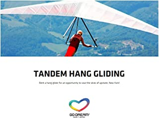 Tandem Hang Gliding Experience Gift Card New York Area - GO DREAM - Sent in a