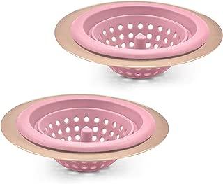 pink sink drainer