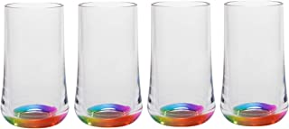 Merritt International Acrylic Rainbow Reflections 14oz Tumbler, set of 4