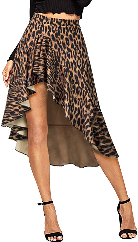 Pleated Skirts for Women Midi - Elegant African Graffiti Cartoon Printed A Line Long Swing Dresses