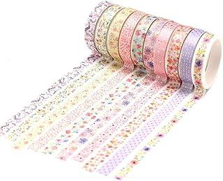 YUBX Maigre Or Washi Tape Set Masking Tape Ruban adhesif decoratif pour Scrapbooking Artisanat de Bricolage 8MM de large (...