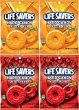 LifeSavers Candy, Butter Rum & Wild Cherry, Individually Wrapped, 6.25 Oz (4 Total Packs - 2 of Each Flavor)