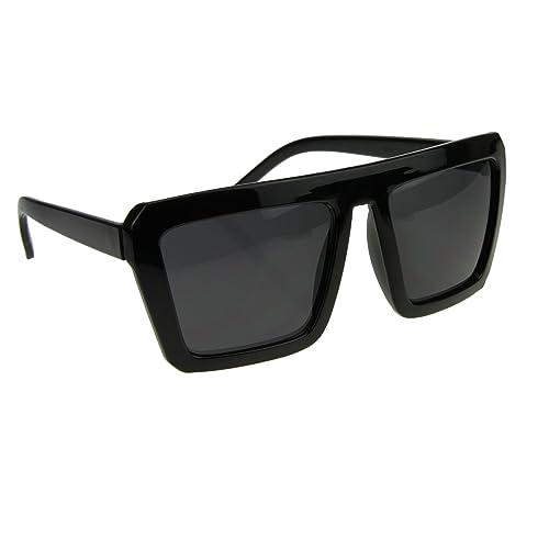 d78ba2182207 BXT Unisex Large Oversized Vintage Fashion Square Flat Top Sunglasses UV400  100% Protection