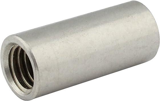 Edelstahl A2 V2A rostfrei 5 St/ück M6 x 20 mm Rundmuffe Eisenwaren2000 - Gewindemuffen rund