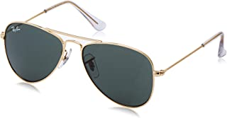Ray Ban Jr. Boys Ray-ban Kids Aviator Junior, Gold Frame Green Lens