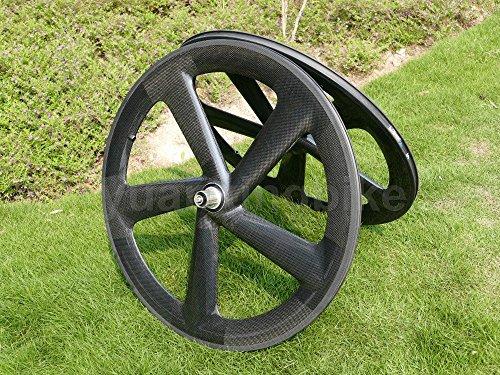 Full Carbon 3K Matt Rennrad Fünf Speichen Drahtreifen Laufradsatz basalt Bremse Seite Toray Carbon Laufradsatz für Shimano 8/9/10/11s