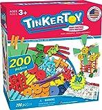 TINKERTOY 30 Model 200 Piece Super Building Set - Preschool Learning...