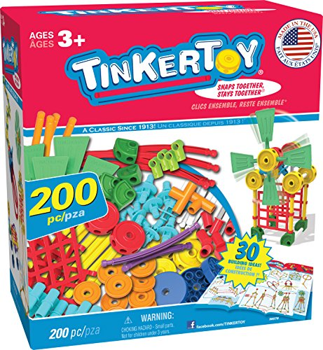 TINKERTOY 30 Model 200 Piece Super Building Set - Preschool...