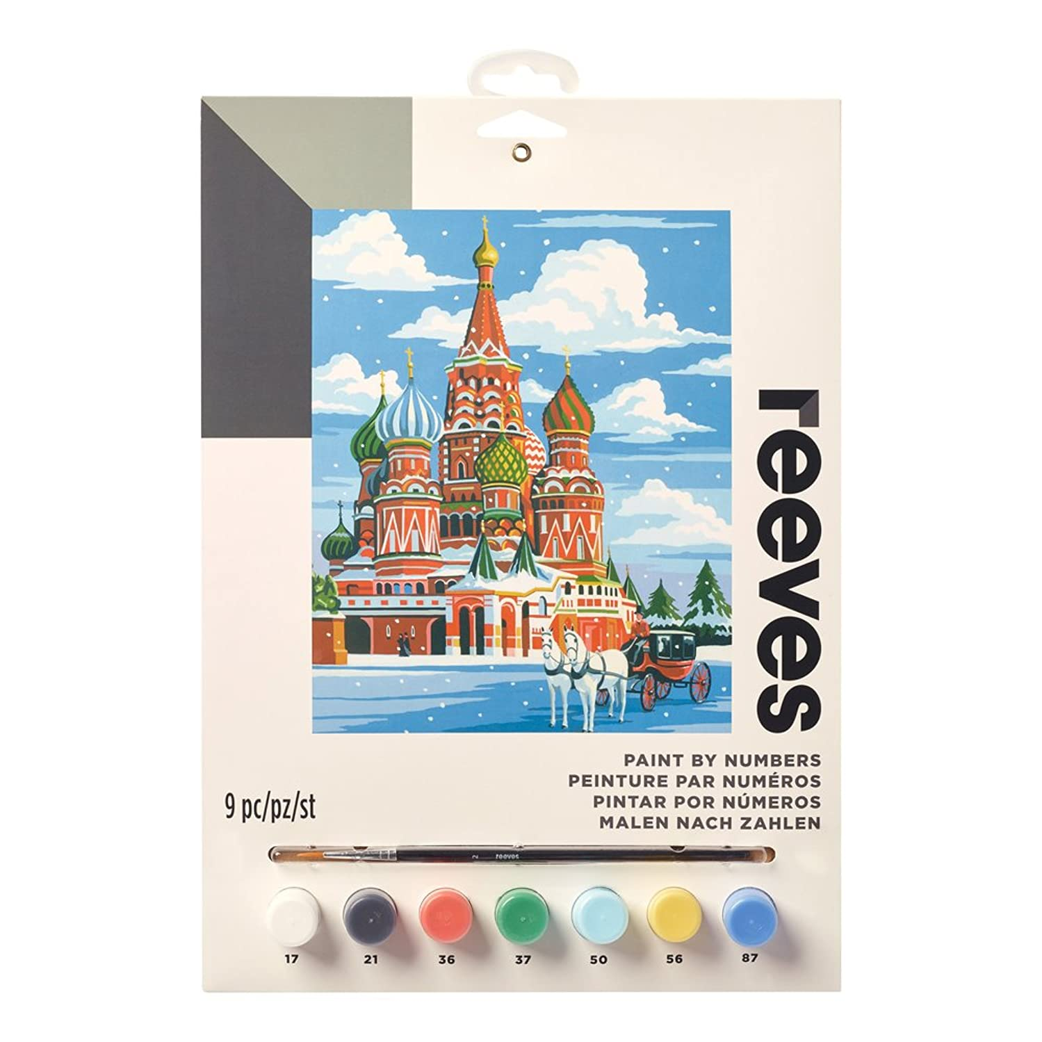 "Reeves Paint by Numbers 9"" x 12"" , St. Basil's Cathedral"