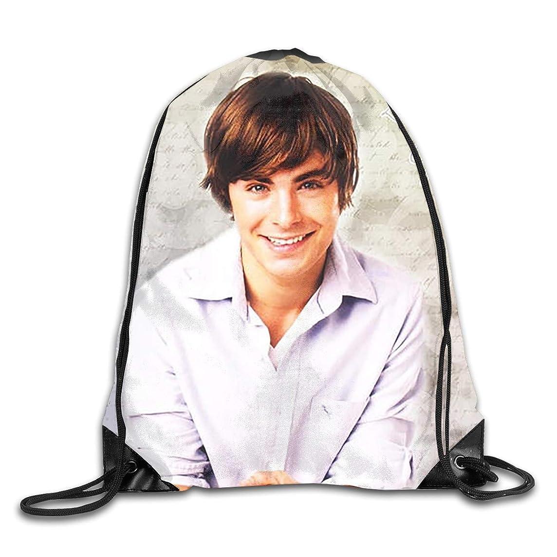 Zac Efron Casual Drawstring Bag Backpack Shoulder Bags Gym Bag Large Lightweight Gym For Men And Women