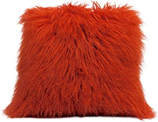 mongolian lamb fur stool