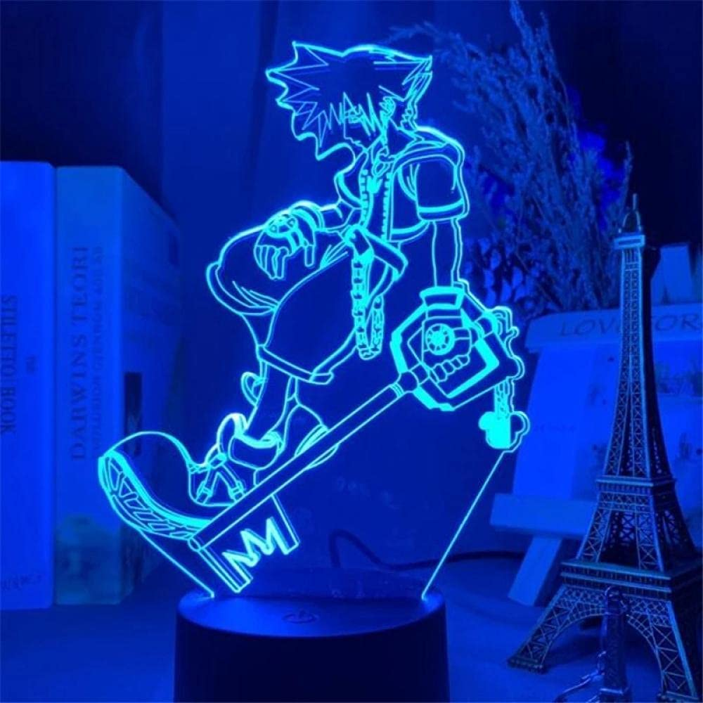 Kingdom Hearts Japanese Anime Light Sign 16 Illusion Some reservation 3D Lamp LED Lowest price challenge