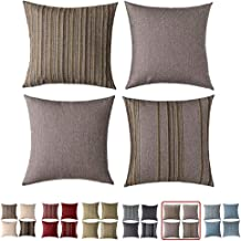 HOMEPLUS Set of 2 Throw Pillow Cover Decorative Cushion Pillowcase for Bed Sofa Couch Car, 17X17, Mink