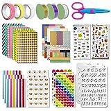 Scrapbooking kit,50 PCS Scrapbooking Accessoires Autocollant Album Photo Autocollants Amour DIY Agenda Cartes Décoration pour Livre Photo