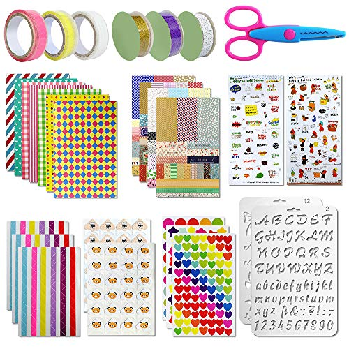 Scrapbooking kit,50 PCS Scrapbooking Accessoires Autocollant Album Photo Autocollants Amour DIY Agenda Cartes Décoration pour Livre Photo