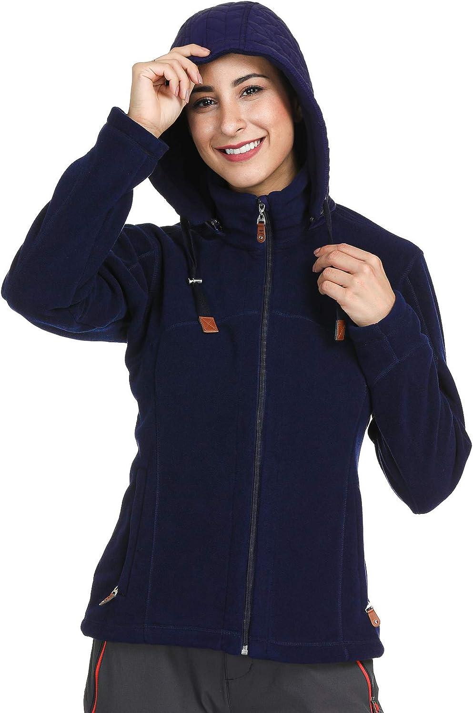 MIER Max Overseas parallel import regular item 56% OFF Women's Polar Fleece Full Zip Long Jacket Coat with Sleeve