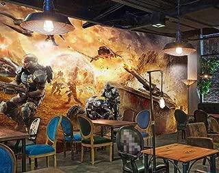 3D Wallpaper Custom Tank War Internet Cafes Dedicated Backdrop Wall Wallpaper Yzbz-250cmx175cm