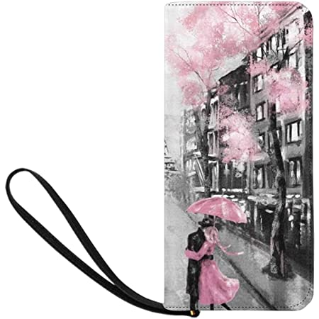 InterestPrint Vintage Art Womens Clutch Wallet Large Wristlet Zipper Clutch Large Travel Purse