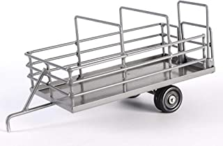 metal toy truck and cattle trailer