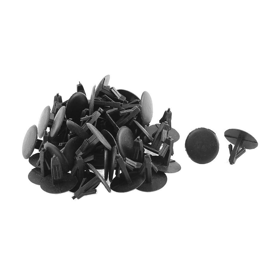 uxcell 50 Pcs Black Plastic Door Trim Buckle Mat Rivet