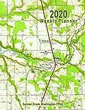 2020 Weekly Planner: Salmon Creek, Washington (1954): Vintage Topo Map Cover