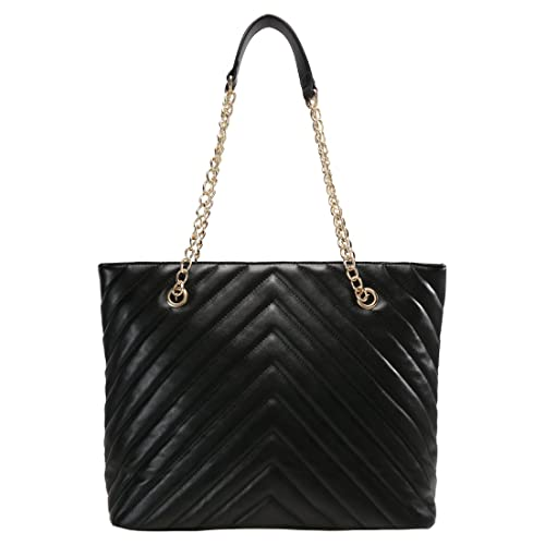 6235374d46d1 Anna Field Shopper Bag for Women with Elegant Chain Handle - Quilted  Pleather Shoulder Bag