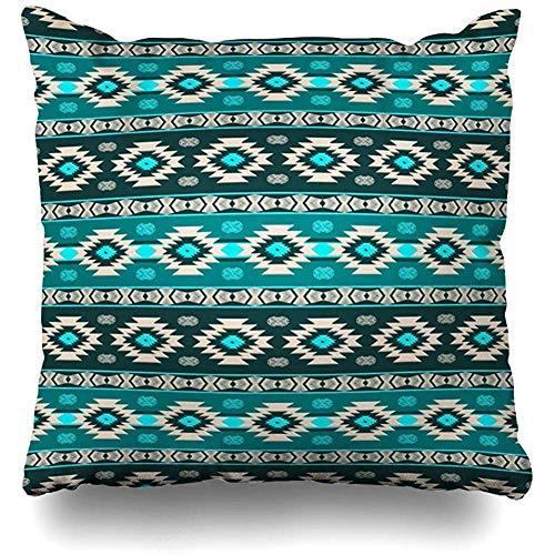 Throw Pillow Case 45x45 cm Striped Texture Fashion Southwest Stripes Pattern Design Geometric Textures Southwestern Aztec Cushion Cover