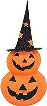 OSALADI Decorações da Abóbora de Halloween Lanterna 50LED Pré- Lit Light Up Jack- O- Lanterna Dobrável Laranja Abóbora Luz...