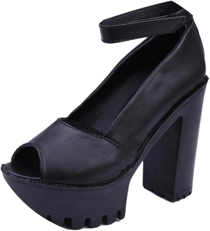 Style High Heels Women Sandals Open Toe Sandals Thick Heel Platform Summer shoes 9