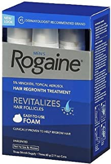 Men's Rogaine Foam-Rogaine Hair Regrowth Treatment, 6/2.11 oz. cans (6 Month Supply)