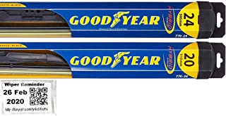 Hybrid - Windshield Wiper Blade Bundle - 3 Items: Driver & Passenger Blades & Reminder Sticker fits 2006-2011 Aston Martin V8 Vantage