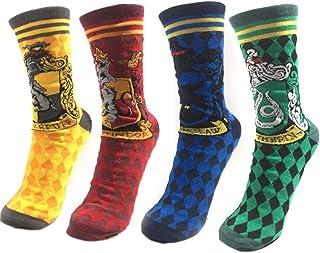 4 pares de calcetines para primavera, invierno, Harry Potter, para adultos, mujeres, hombres, calcetines Calzino, Harri, accesorios de cosplay, Halloween Magic Wand Calcetines