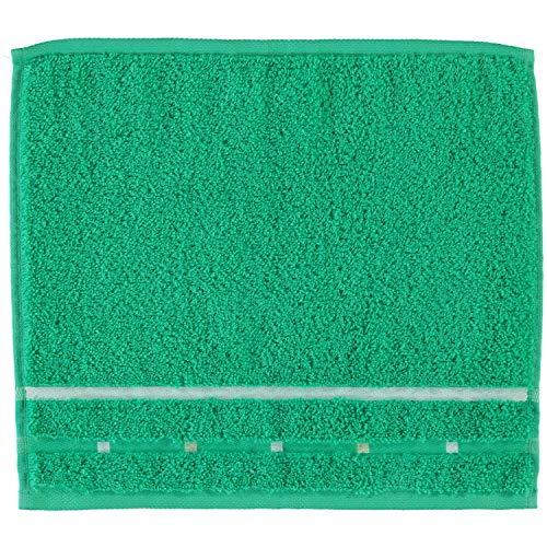 Vossen Handtücher Quadrati Emerald/weiß - 062 Seiflappen 30x30 cm