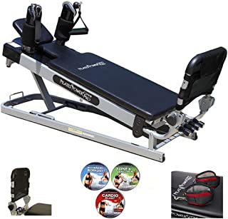 Pro' 3-Elevation Mini Reformer Exercise System with 3 Pilates Workout DVDs and the Power Flex Cardio Rebounder