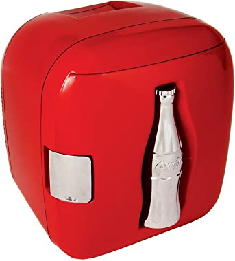 Coca-Cola CCU09 12 Can AC/DC Cube Electric Cooler by Koolatron, Red