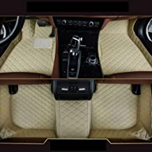 8X-SPEED Custom Car Front and Rear Floor Mats Fit for Ford F150 2015-2019 Pickup 4 Door Full Coverage All Weather Protection Waterproof Non-Slip Anti-Scratch Leather Auto Floor Liner Carpet Set Beige