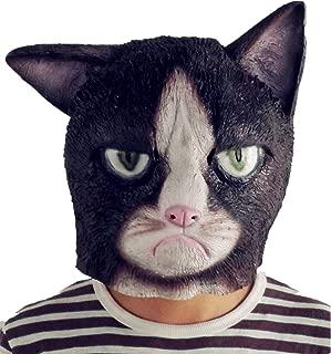 Lepy Grumpy Cat Mask, Novelty Halloween Costume Latex Animal mask
