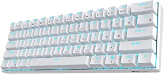 Royal Kludge RK61 61 Keys Wired/Wireless Multi-Device Yellow LED Backlit Mechanical Gaming/Office Keyboard for iOS, Androi...