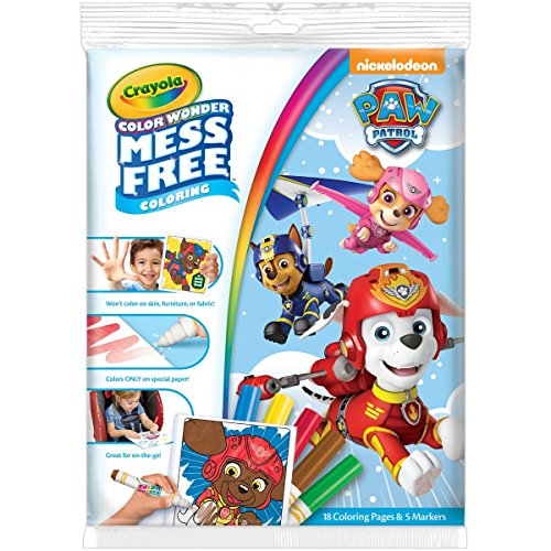 Crayola Color Wonder Coloring Pad & Markers, Mess Free, Paw Patrol Gift, Ages