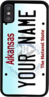 BleuReign Personalized Custom Name Arkansas State License Plate Rubber Phone Case for Apple iPhone XR