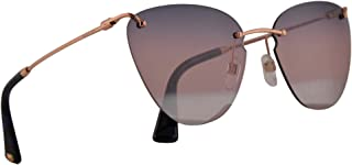 0538a440aa Valentino VA 2022 Sunglasses Rose Gold w Blue Pink Mirror Lens 58mm 3004E6  VA2022S VA2022