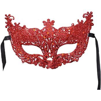 Black Venetian Masquerade Mask Filigree Rialto Ball Eyemask Glitter w// Diamantes